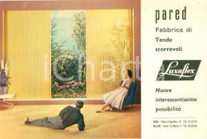 1960 ca ROMA Fabbrica PARED tende scorrevoli LUXAFLEX *Opuscolo ILLUSTRATO