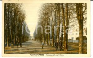 1955 ABBIATEGRASSO (MI) Passeggiata dell'ALLEA *Cartolina ANIMATA FP  VG
