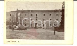 1909 LODI Veduta di piazza VITTORIO EMANUELE II *Cartolina postale FP VG