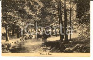 1915 ca MILANO  Ponticello nel parco di VILLA REALE a MONZA *Cartolina ANIMATA
