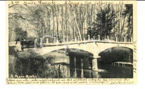 1902 MONZA Veduta del Regio Parco con ponticello *Cartolina ANIMATA con bambino