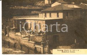 1930 ca SCANNO (AQ) Albergo ROMA *Cartolina postale ANIMATA FP NV