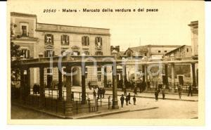 1915 ca MATERA Mercato della verdura e del pesce *Cartolina ANIMATA RARA FP