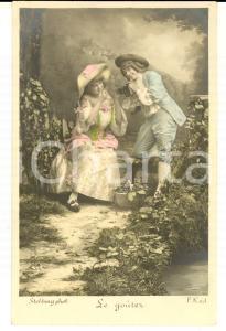 1900 ca FRANCE AMOUR Le goûter des amoureux *Carte postale STEBBING  VINTAGE