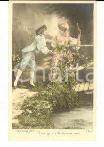 1900 ca FRANCE AMOUR Une querelle d'amoureux *Carte postale STEBBING  VINTAGE