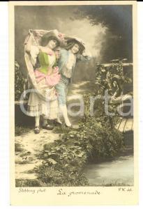 1900 ca FRANCE AMOUR La promenade *Carte postale STEBBING  VINTAGE
