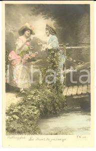1900 ca FRANCE AMOUR Le droit de passage *Carte postale STEBBING  VINTAGE