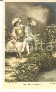 1900 ca FRANCE AMOUR Le beau raisin *Carte postale STEBBING  VINTAGE