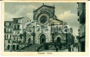 1942 COSENZA Veduta del Duomo *Cartolina postale ANIMATA FP VG