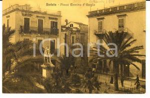 1914 BARLETTA Piazza Massimo D'AZEGLIO *Cartolina ANIMATA con calesse FP NV