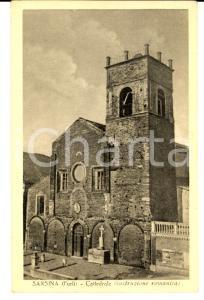 1950 SARSINA (FC) Veduta della Cattedrale *Cartolina DANNEGGIATA FP VG