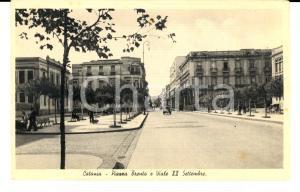 1930 ca CATANIA Piazza TRENTO e viale XX Settembre *Cartolina ANIMATA FP NV