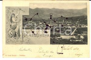 1903 FABRIANO (AN) Veduta panoramica *Cartolina FP VG DANNEGGIATA