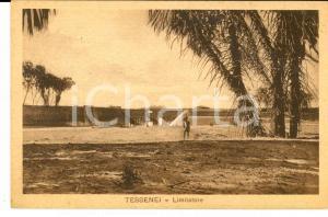 1935 AOI COSTUMI TESSENEI (ERITREA) Limitatore *Cartolina ANIMATA FP VG