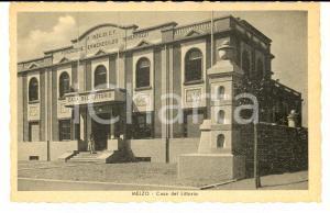 1942 MELZO (MI) Casa del Littorio Fondazione Ermenegildo INVERNIZZI *Cartolina