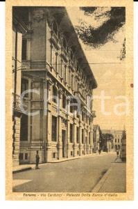 1930 ca TERAMO Palazzo della BANCA D'ITALIA *Cartolina animata FP NV