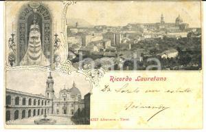 1904 LORETO (AN) Vedutine della basilica *Cartolina ILLUSTRATA FP VG