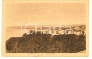 1918 NUMANA (AN) Panorama con via della TORRE *Cartolina FP VG VINTAGE