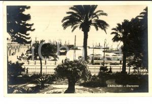 1930 CAGLIARI Veduta della DARSENA *Cartolina ANIMATA FP VG