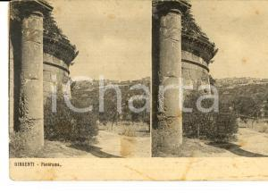 1910 ca GIRGENTI Panorama con rovine *Cartolina postale FP NV