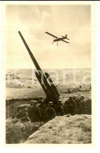 1940 ca WW2 Die LUFTWAFFE Postazione di tiro *ECHTE Photographie Postcard