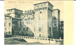 1903 MANTOVA Castello Ducale dei GONZAGA *Cartolina ANIMATA carretto FP VG