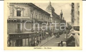 1932 CATANIA Via ETNEA con fabbrica cioccolato LA TORINESE *Cartolina FP VG