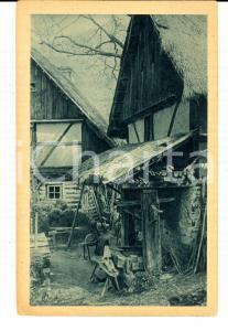 1920 ca GERMANIA Fattoria nella valle dell'ELBA *Cartolina in esperanto FP NV