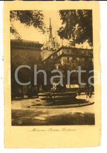 1928 MILANO Veduta di piazza FONTANA *Cartolina postale F. PASTA FP VG