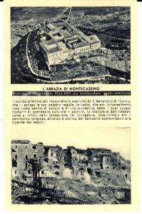 1944 PROPAGANDA RSI MONTECASSINO Abbazia distrutta da bombardamenti *Cartolina