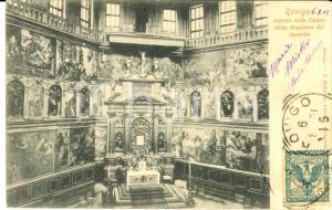 1901 ROVIGO Interno chiesa Madonna del Soccorso *Cartolina postale FP VG