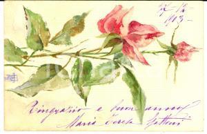 1903 ARTE Un ramo di rose fiorito *Cartolina DIPINTA A MANO Maria Teresa GATTONI