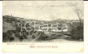1919 L'AQUILA Panorama da PORTA BAZZANO *Cartolina postale FP VG