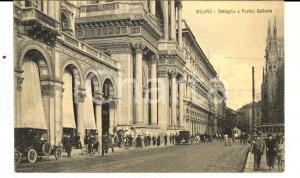 1925 MILANO Piazza Duomo - Portici della Galleria *Cartolina ANIMATA FP VG