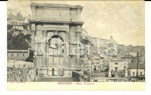 1907 ca ANCONA Veduta con l'Arco TRAIANO *Cartolina postale VINTAGE FP VG