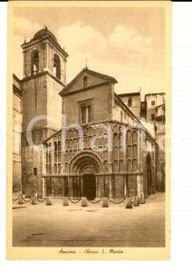 1930 ca ANCONA Chiesa di San Maria *Cartolina postale FP NV