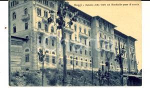 1916 FIUGGI (FR) Palazzo della FONTE sul monticello preso di scorcio *Cartolina