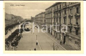 1928 BARI Veduta di corso CAVOUR *Cartolina VINTAGE ANIMATA FP VG