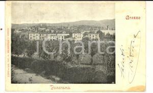 1909 AREZZO Panorama tra gli ulivi *Cartolina postale VINTAGE FP VG
