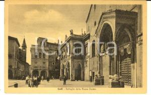 1930 ca LODI Dettaglio della piazza Duomo *Cartolina ANIMATA bandiera FP VG