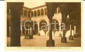 1931 LODI Cortiletto interno Ospedale Maggiore *Cartolina postale FP VG