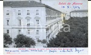1904 ANCONA Direzione lavori ferrovie RETE ADRIATICE *Cartolina FP VG