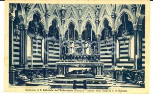 1950 TERAMO Santuario di SAN GABRIELE - Interno della cappella *Cartolina