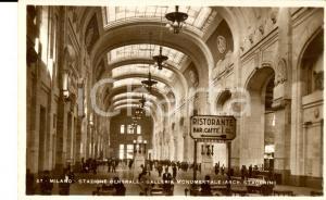 1935 ca MILANO Stazione Centrale - Galleria arch. STACCHINI *Cartolina ANIMATA