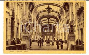 1939 MILANO Atrio della Stazione Centrale *Cartolina postale ANIMATA FP VG