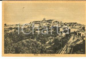 1952 PENNE (PE) Panorama con Ferrovia *Cartolina postale FP VG