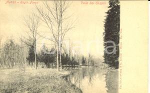 1900 ca MONZA Veduta del Regio Parco con la Valle dei Sospiri *Cartolina FP NV