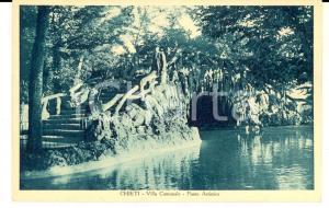 1930 ca CHIETI Villa Comunale - Ponte artistico *Cartolina postale FP NV