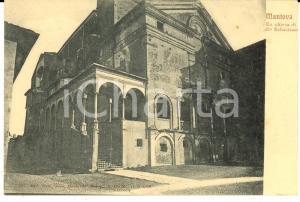 1900 ca MANTOVA Veduta ex chiesa di SAN SEBASTIANO *Cartolina postale FP NV