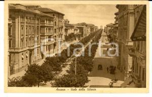 1930 ca ANCONA Viale della VITTORIA *Cartolina ANIMATA auto FP NV